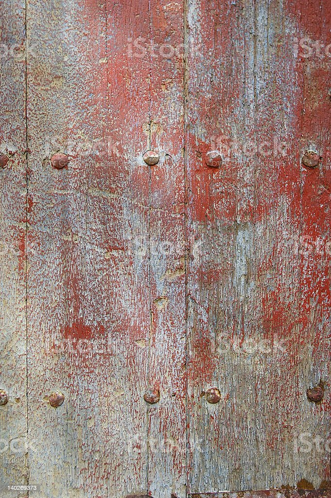 Grunge painted door royalty-free stock photo