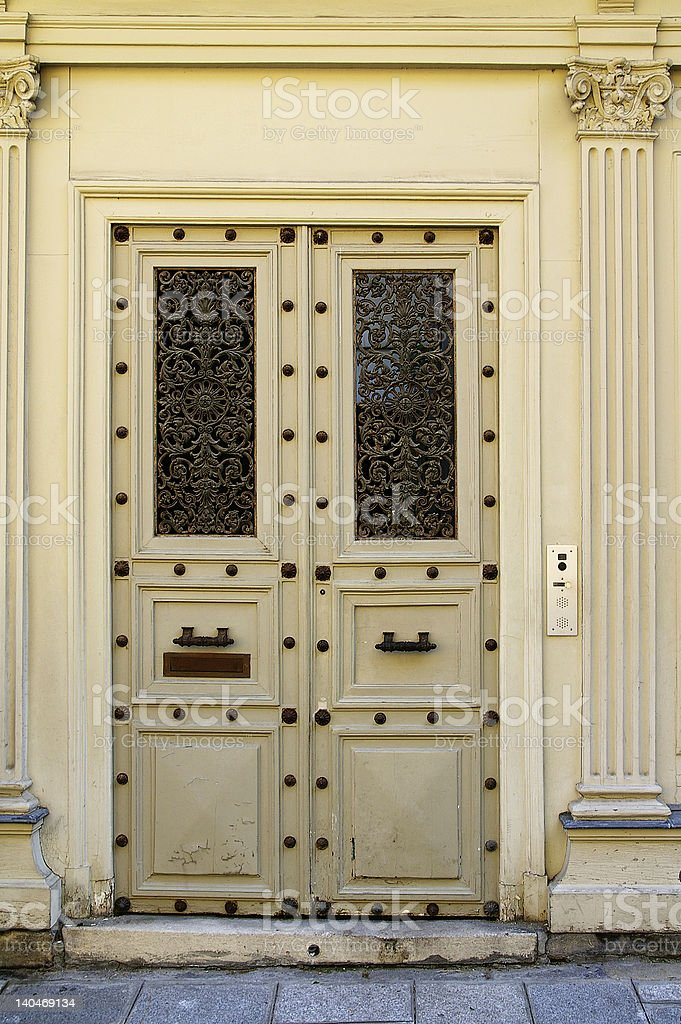 Grunge painted door royalty-free stock photo