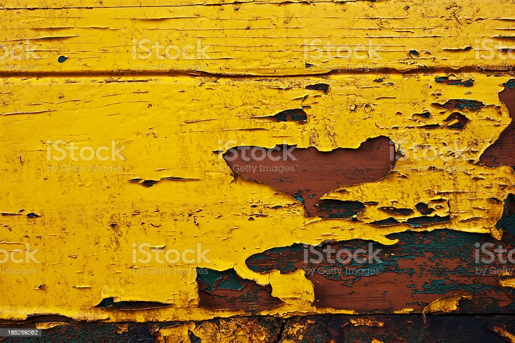 Grunge Painted Yellow Wooden XXXL Background royalty-free stock photo