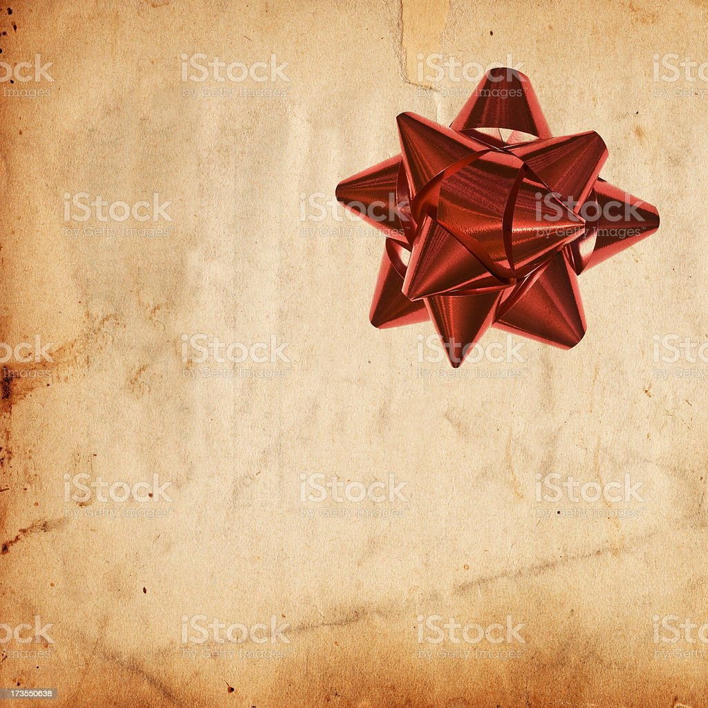 Grunge Paper and Bow XXXL royalty-free stock photo