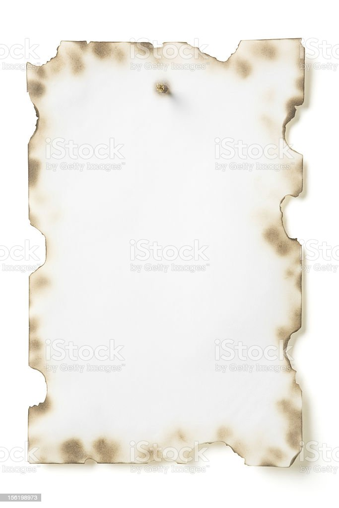 Grunge paper nailed with spike royalty-free stock photo