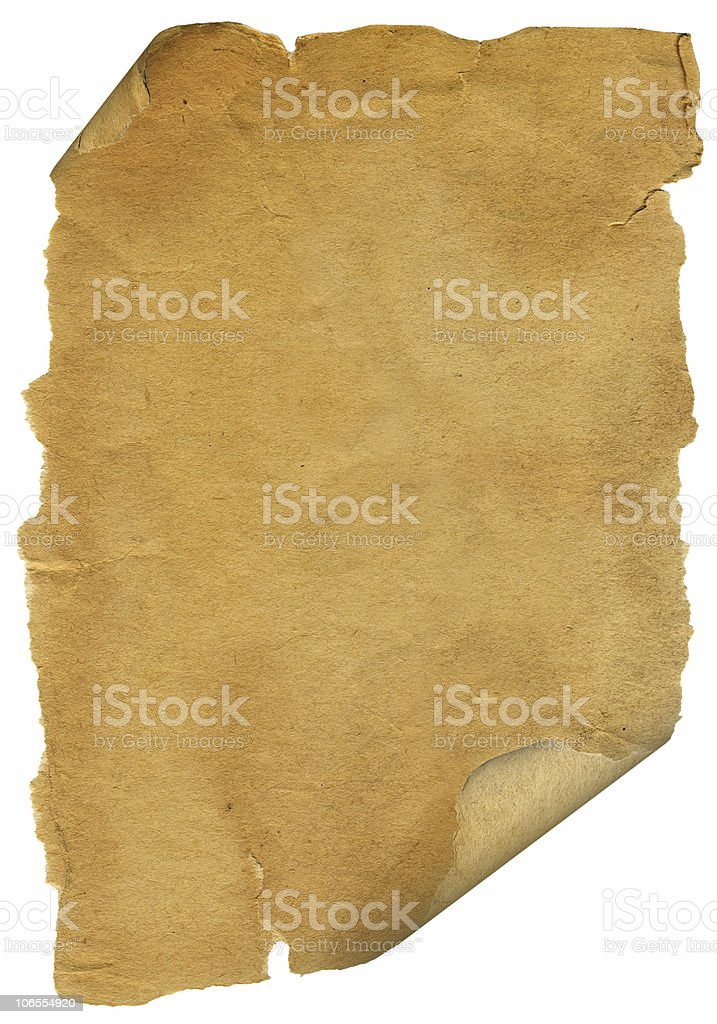 Grunge paper on white royalty-free stock photo