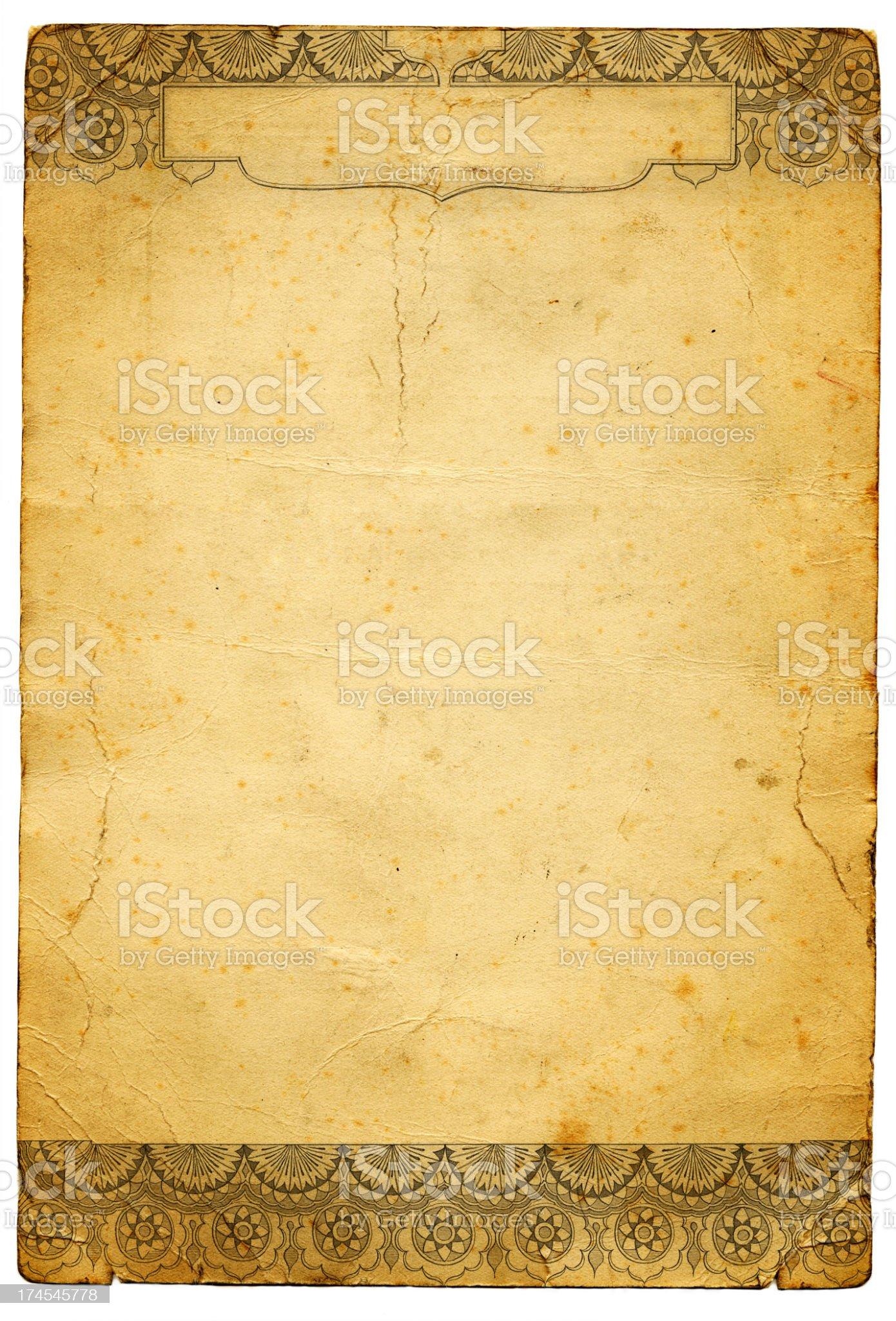 Grunge paper royalty-free stock photo