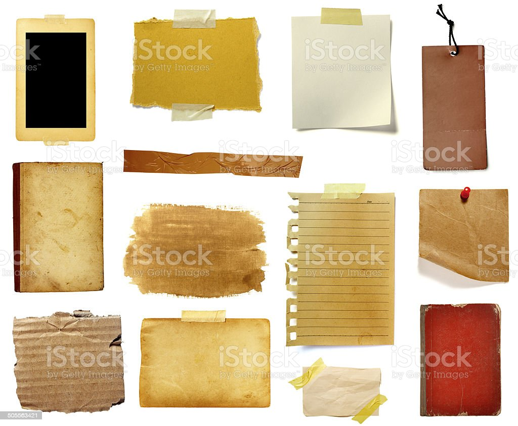 grunge paper piece note stock photo