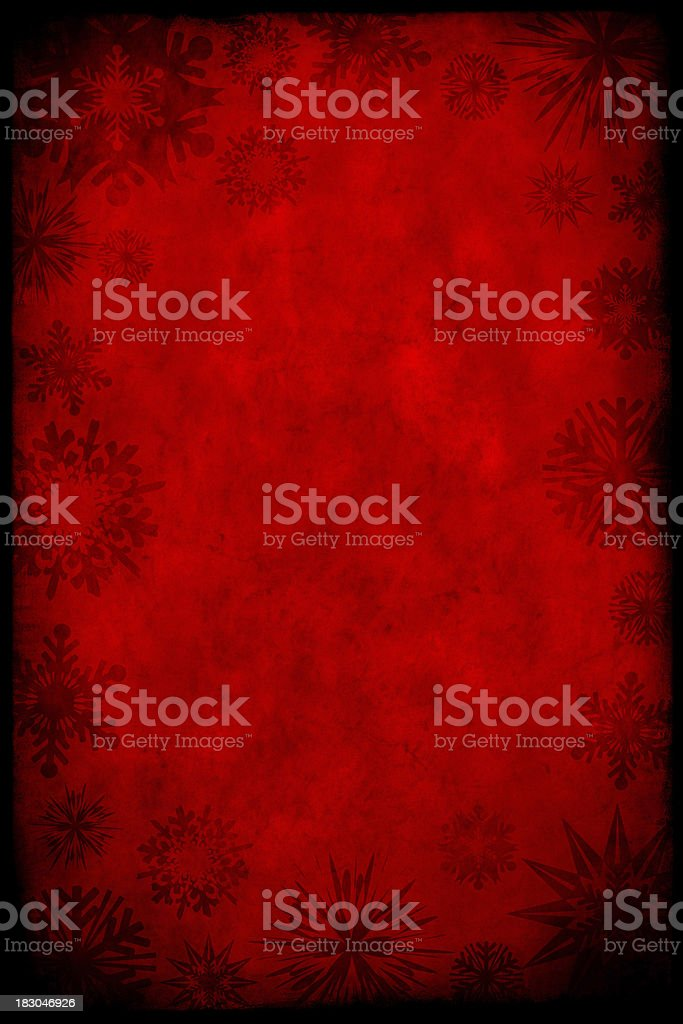 Grunge Paper With Snowflakes stock photo