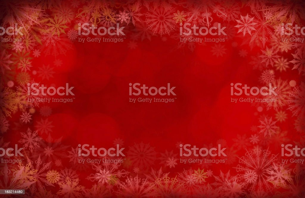 Grunge Paper With Snowflakes royalty-free stock photo