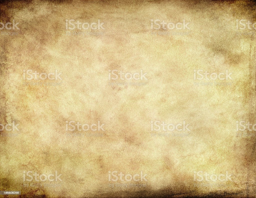 Grunge Parchment Paper Background royalty-free stock photo