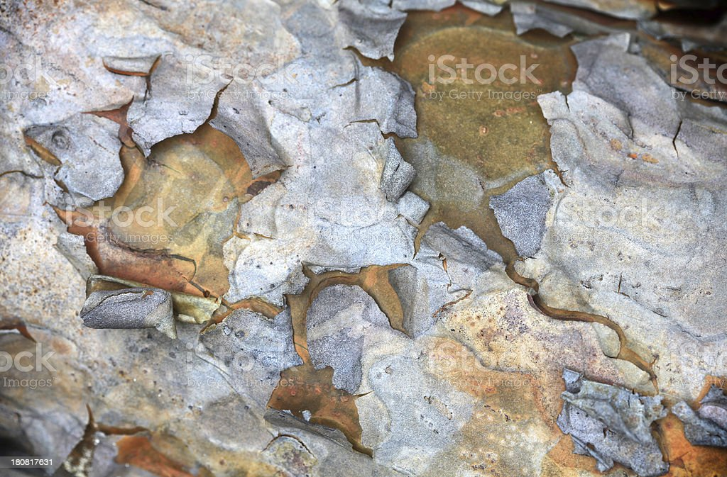 Grunge peeling paint background royalty-free stock photo