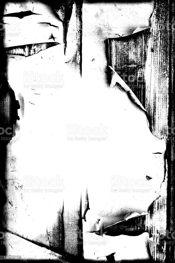 Grunge Peeling Paint on Wood Background stock photo