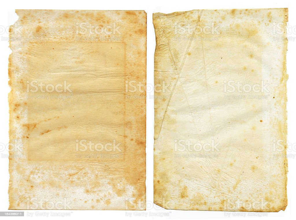 grunge pieces of vellum paper royalty-free stock photo