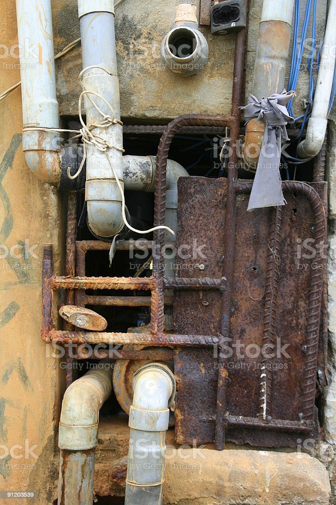grunge piping stock photo