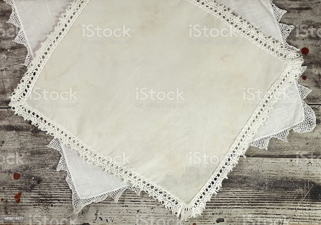grunge plank and old cloth stock photo