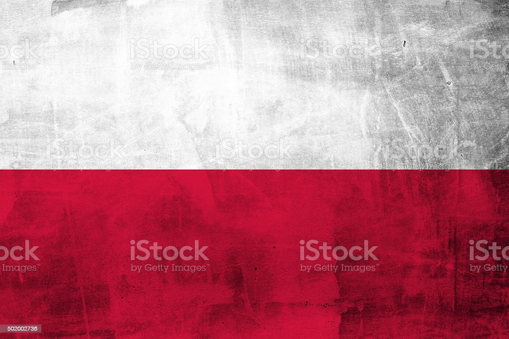 Grunge Polish flag stock photo