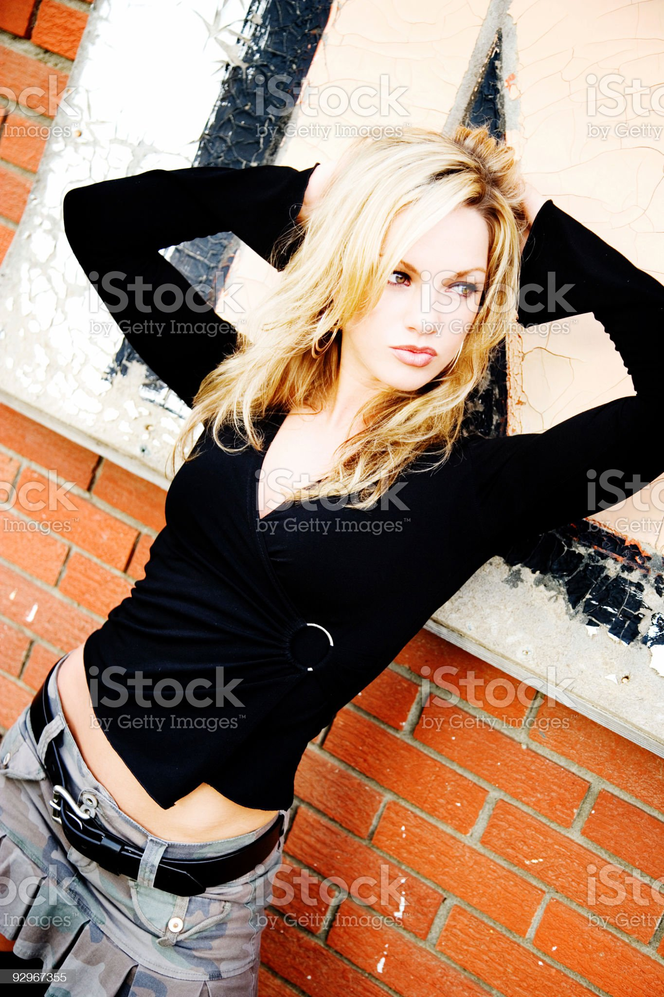 Grunge Portrait / Color royalty-free stock photo