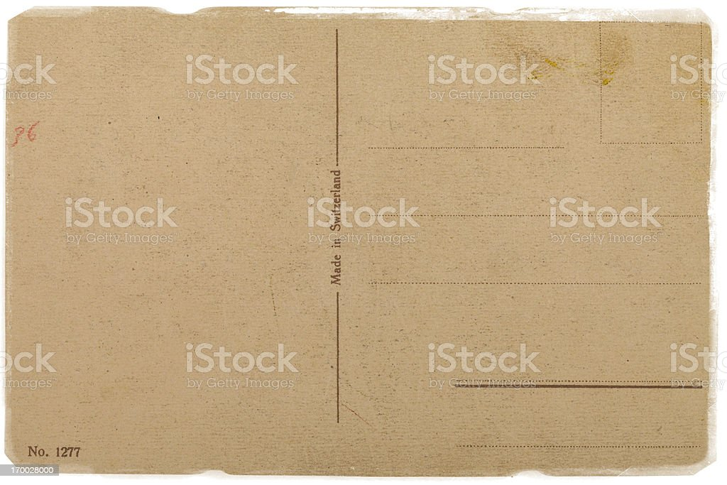 Grunge post card royalty-free stock photo