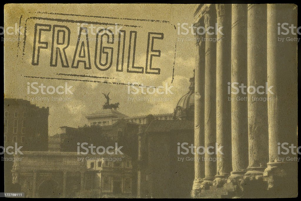 Grunge Postcard from Italy stock photo