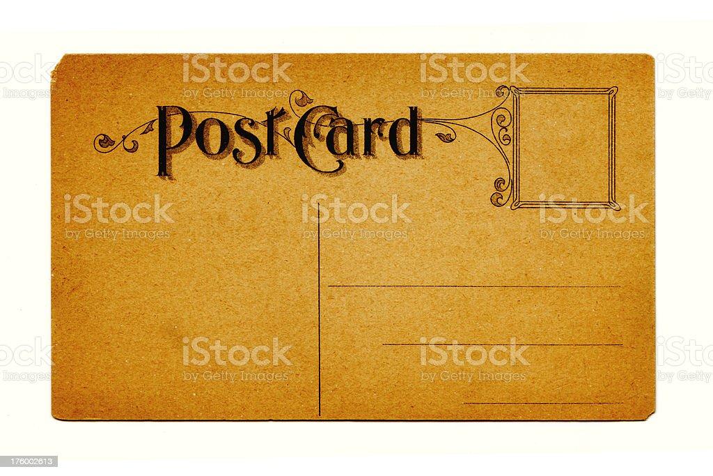 Grunge Postcard stock photo