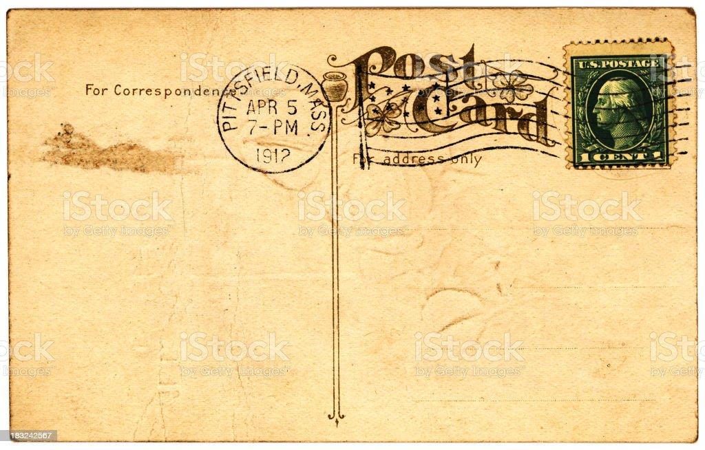 grunge postcard royalty-free stock photo