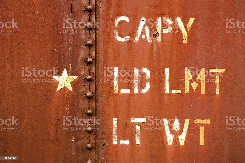 Grunge Rail Car royalty-free stock photo