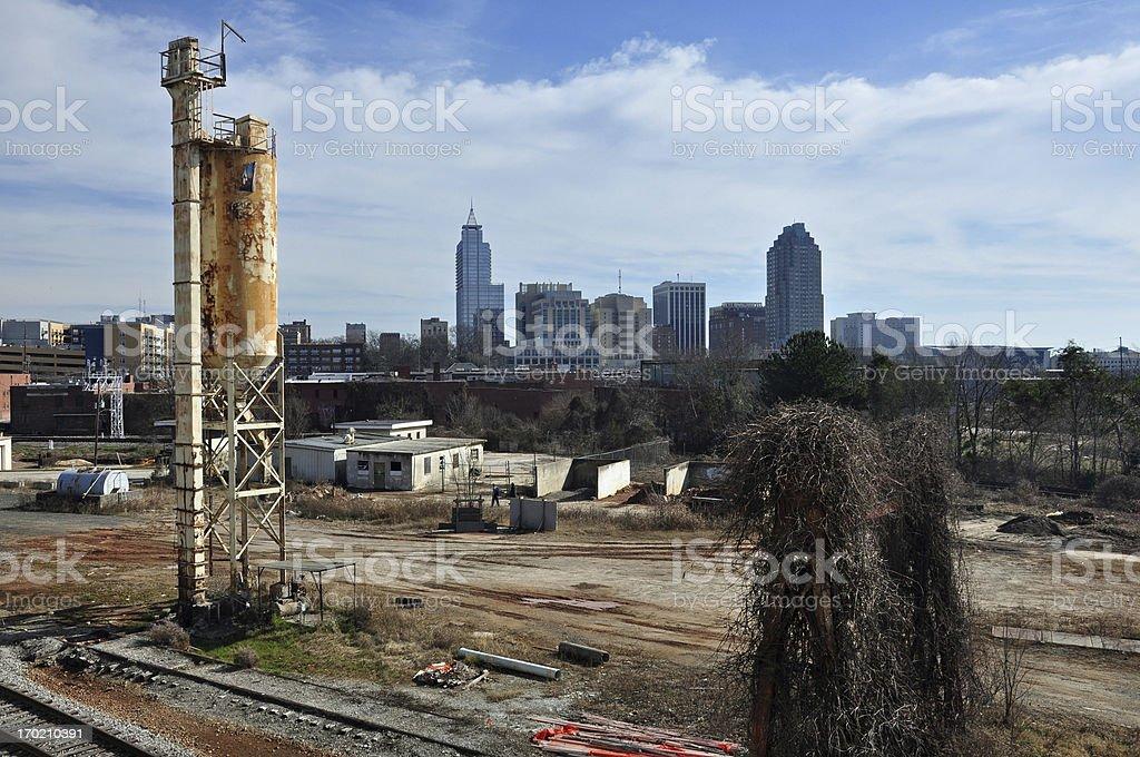 Grunge Raleigh Skyline royalty-free stock photo