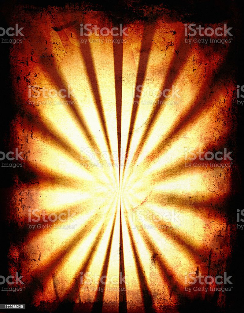 Grunge ray burst royalty-free stock photo
