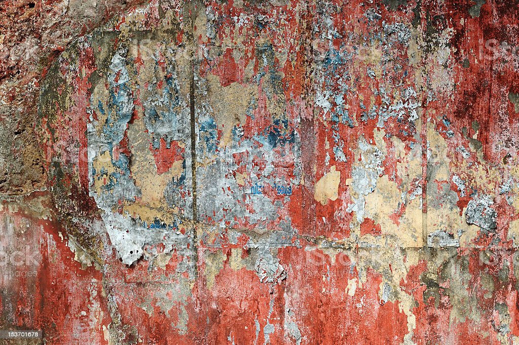 Grunge red poster board royalty-free stock photo