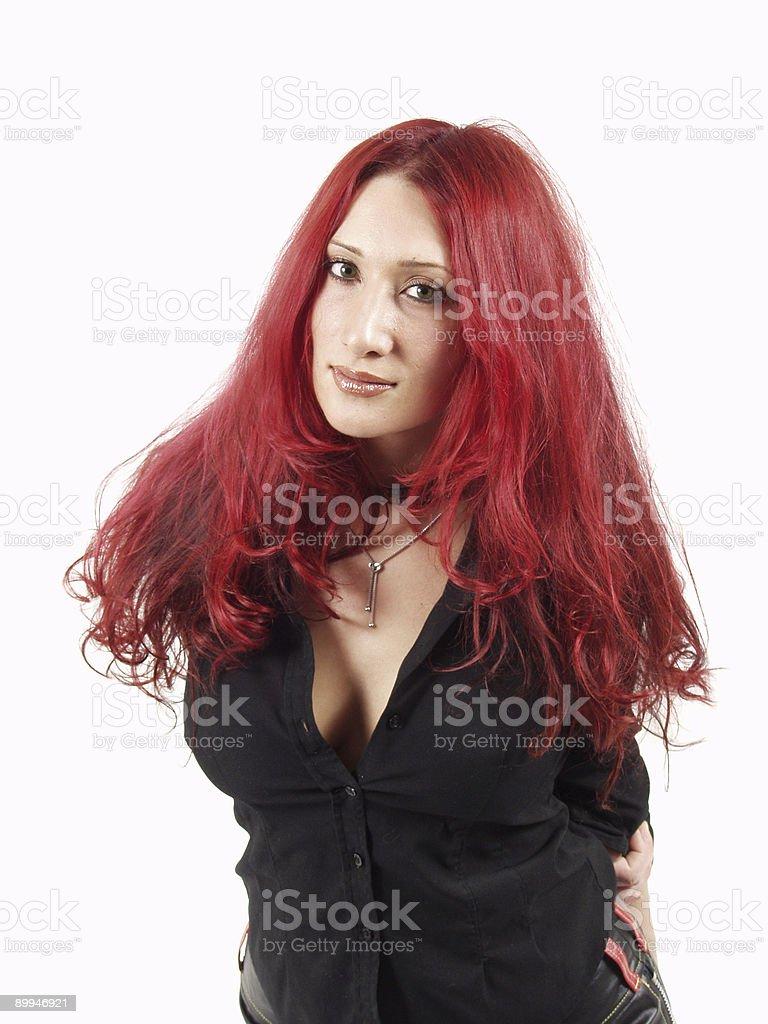 Grunge Redhead stock photo
