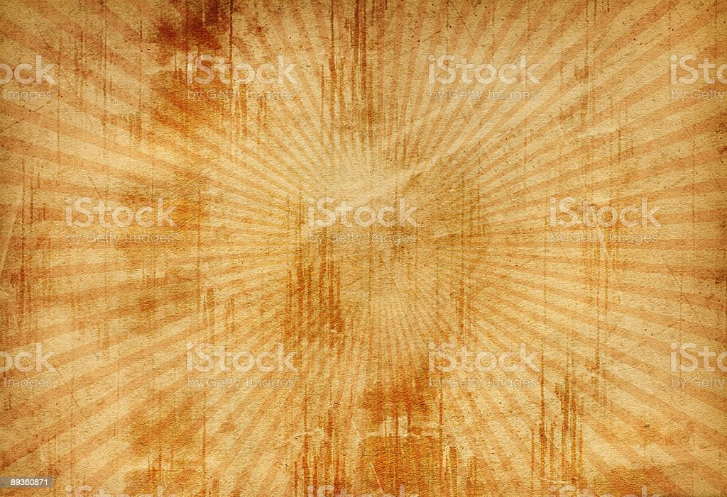 Grunge Retro Burst Paper royalty-free stock photo
