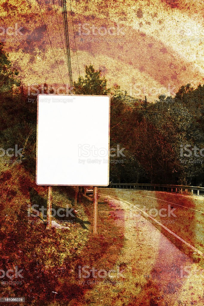 Grunge road sign royalty-free stock photo