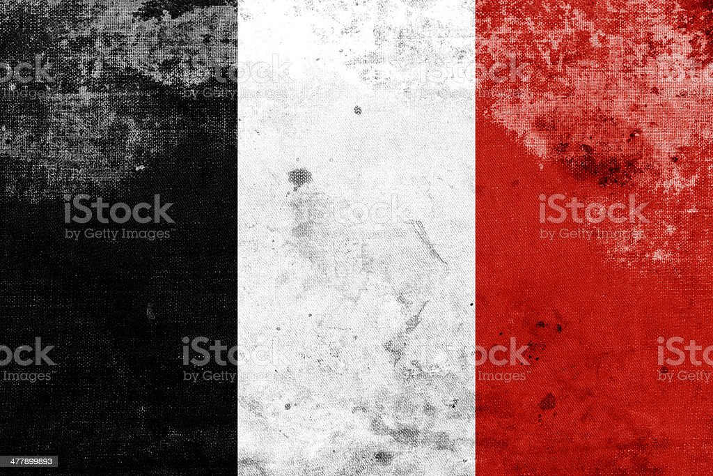 Grunge Roman Republic Flag in 1798 stock photo