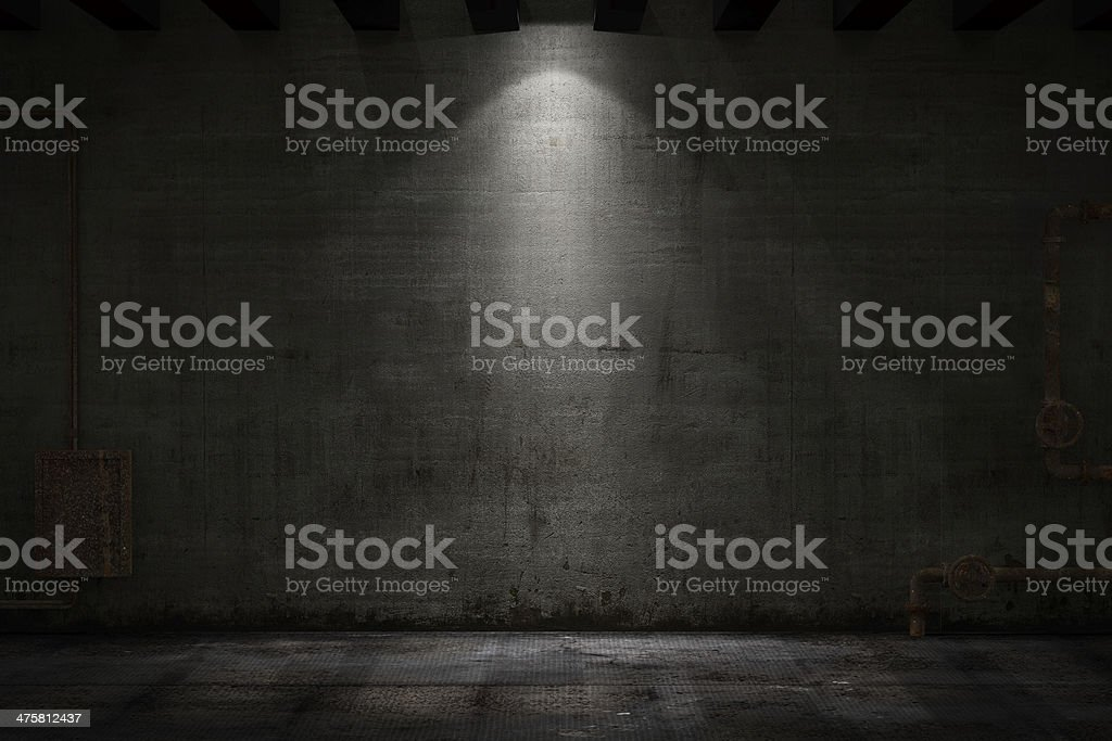 Grunge room stock photo
