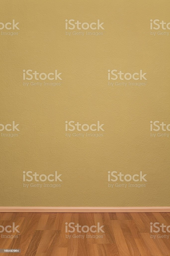 grunge room with wallpaper and parquet royalty-free stock photo