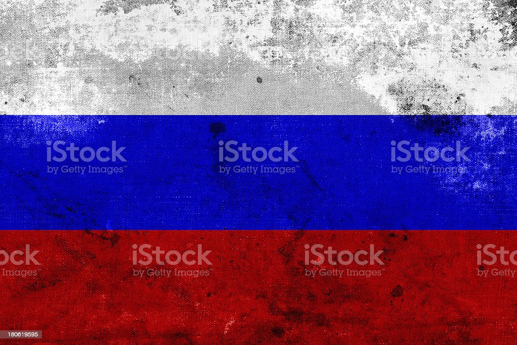 Grunge Russia Flag royalty-free stock photo