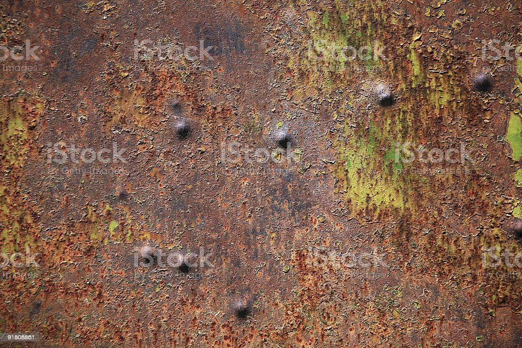 grunge rusty metal surface royalty-free stock photo