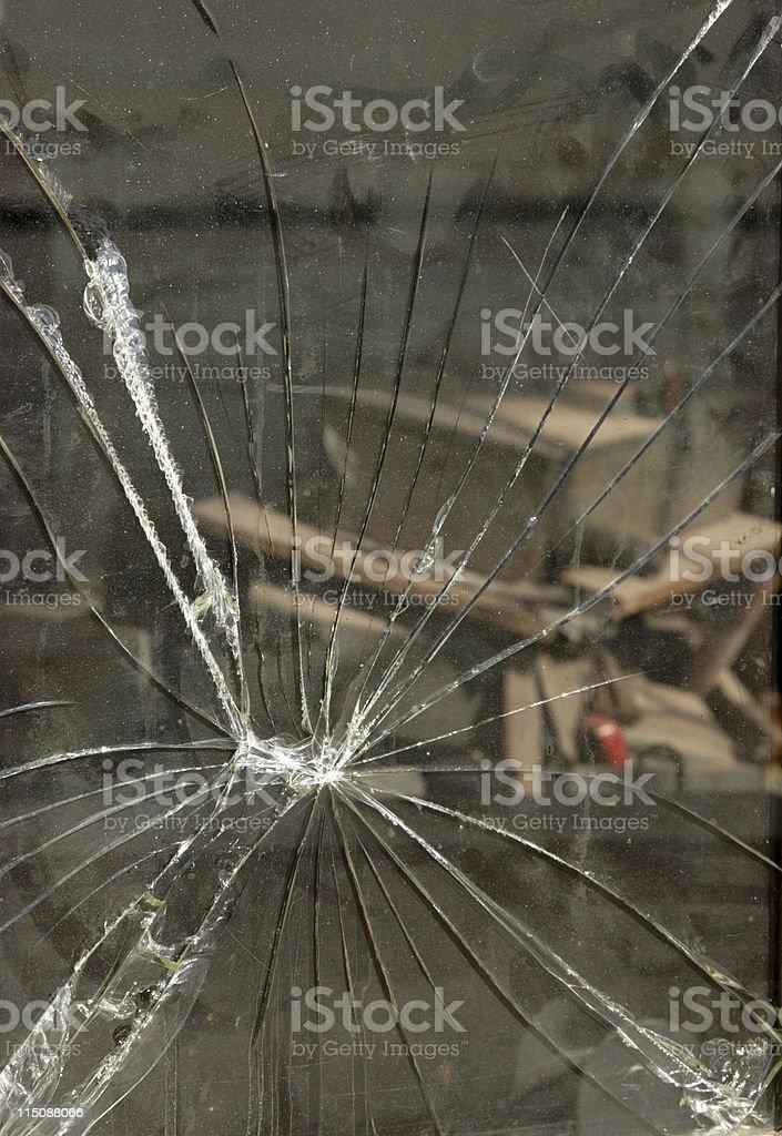 grunge scenes - shattered stock photo