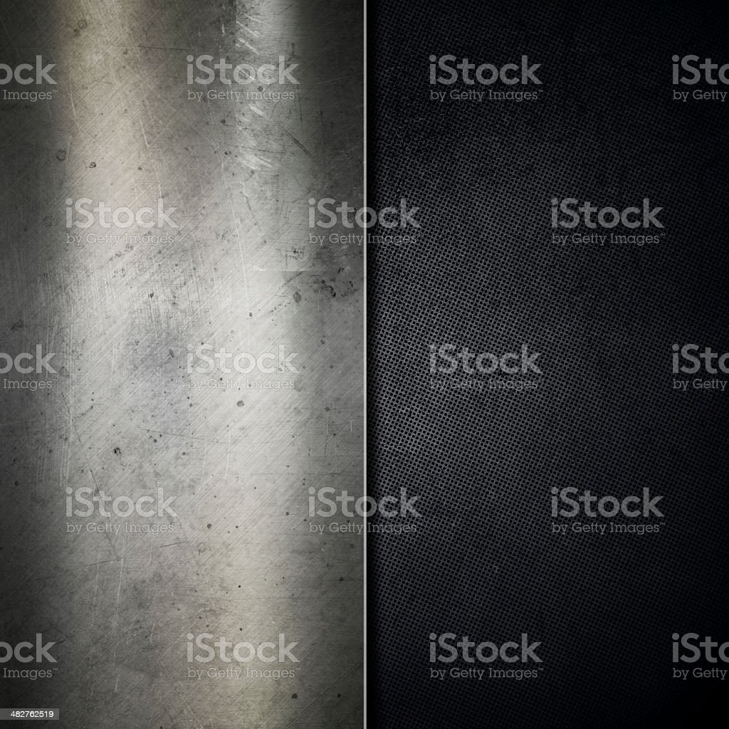 Grunge scratched metal background stock photo