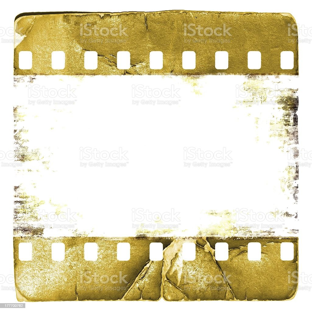 Grunge sepia film strip frame royalty-free stock photo