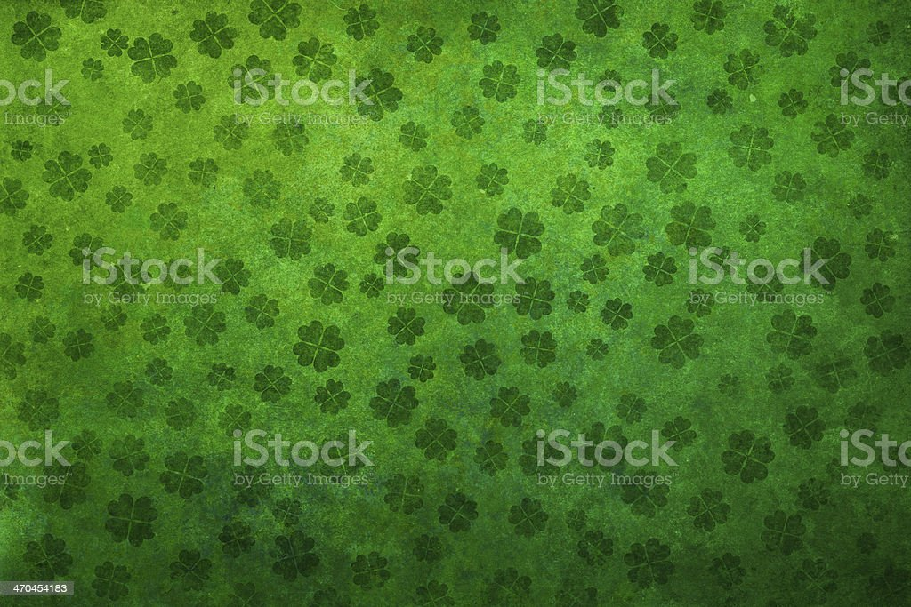 grunge shamrock background stock photo