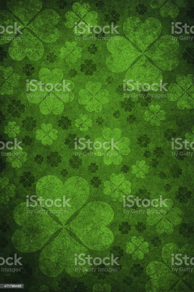 grunge shamrock background royalty-free stock photo