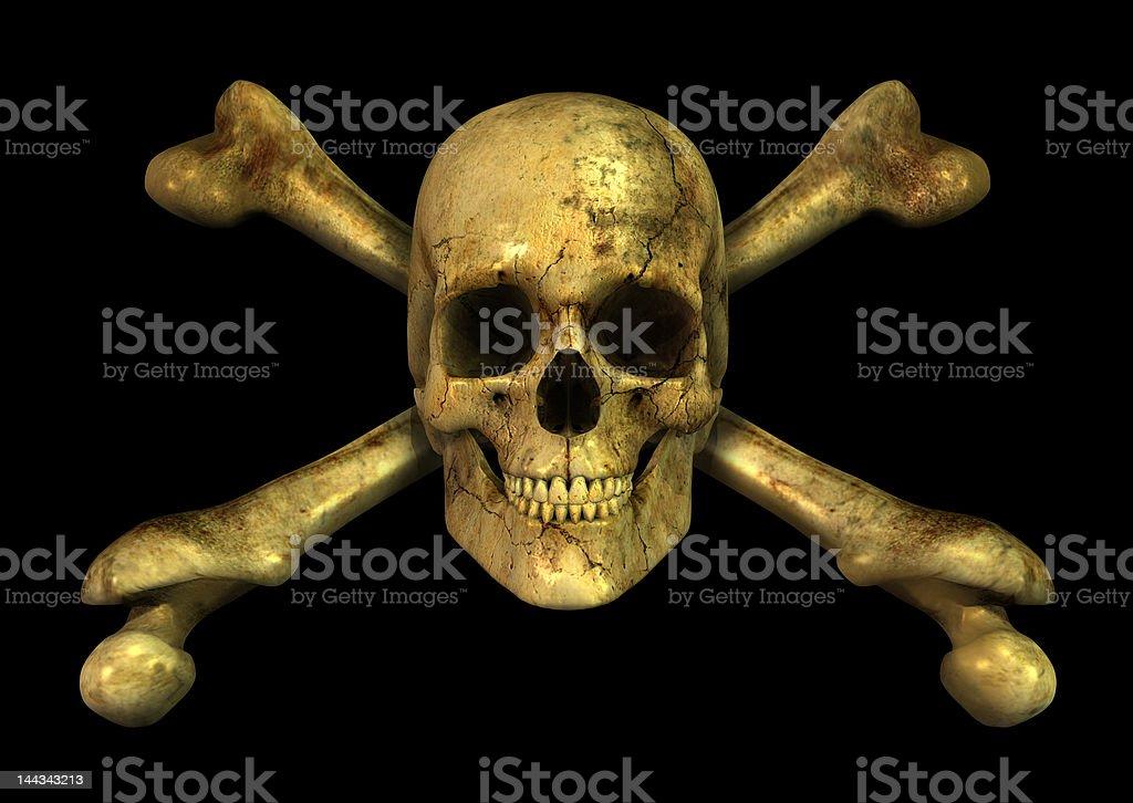 Grunge Skull Crossbones stock photo