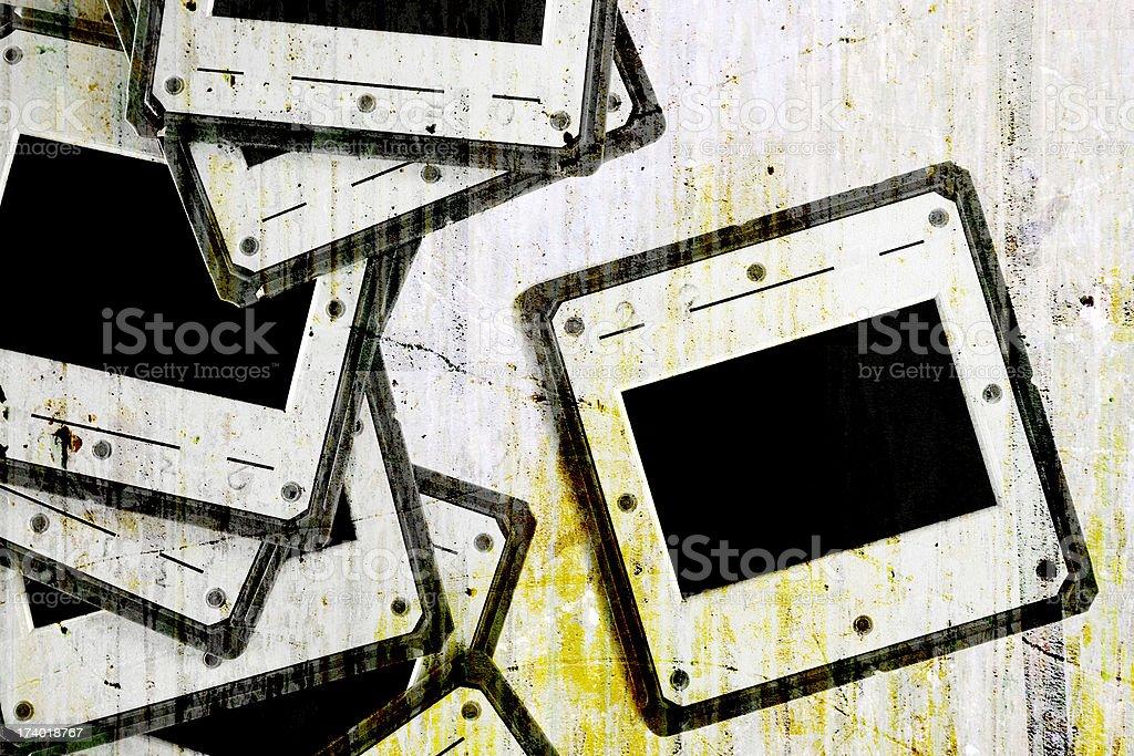 Grunge Slides stock photo