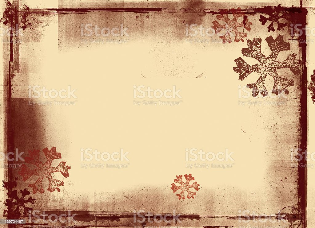 Grunge snowflake background royalty-free stock photo