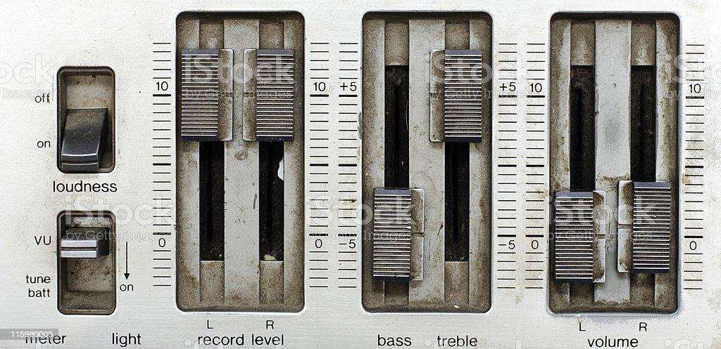 grunge sound mixer console royalty-free stock photo