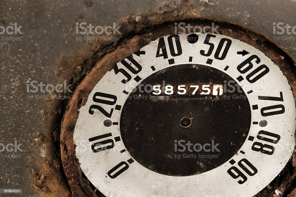 Grunge Speedometer royalty-free stock photo