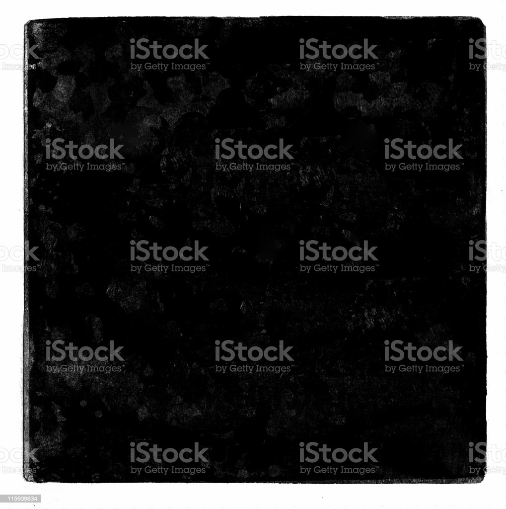 Grunge Square Printed Paper Border, Texture or Background stock photo