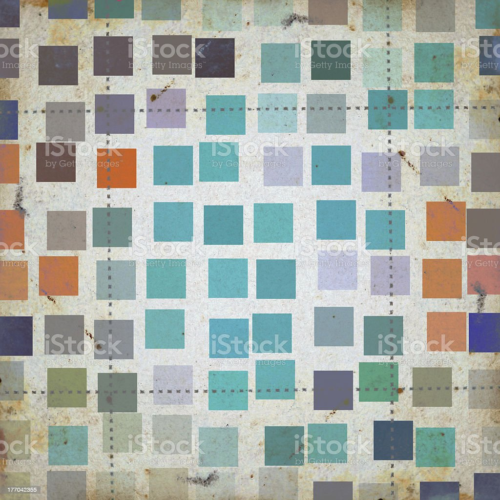 grunge squares abstract pattern stock photo