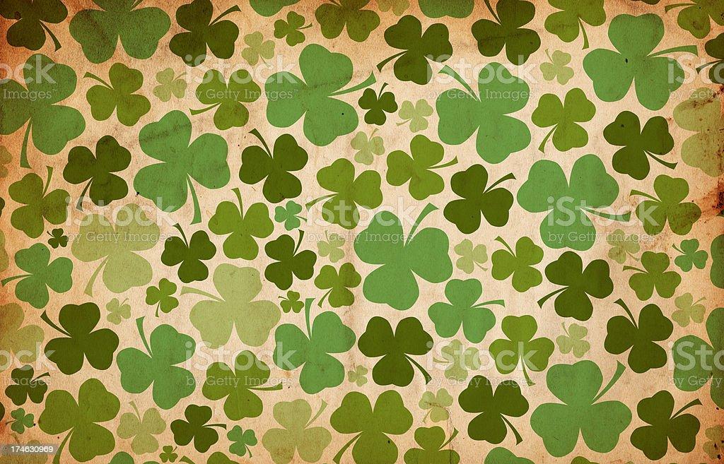 Grunge St. Patrick's Day Background Paper XXXL stock photo