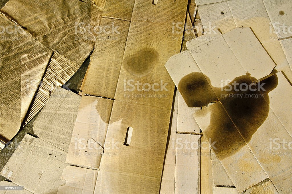 Grunge - Stained Cardboard Texture royalty-free stock photo