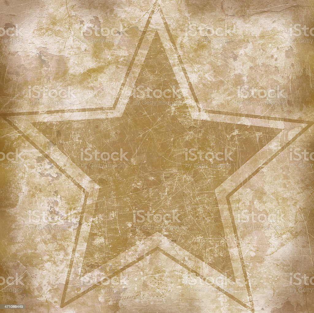 Grunge Star Poster Background Texture royalty-free stock photo
