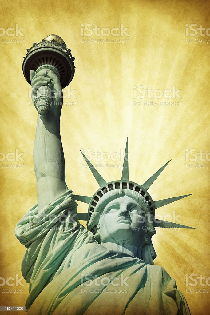 Grunge Statue of Liberty royalty-free stock photo